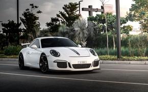 Picture road, auto, white, 911, Porsche, GT3