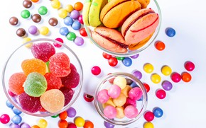 Picture photo, candy, sweets, pills, marmalade