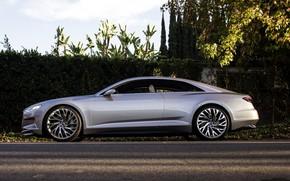 Picture Concept, asphalt, Audi, street, coupe, side view, Coupe, fence, 2014, Prologue