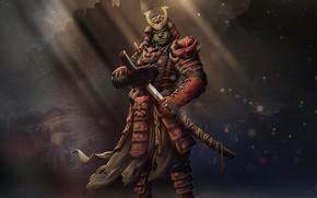Picture Japan, Armor, Style, Japan, Samurai, Fantasy, Art, Orc, Orc, Fiction, Katana, Katana, Sword, Armor, by …