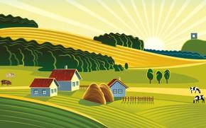 Picture animals, field, farm, illustration, farm, illustration, agriculture, agriculture, clipart, clipart, organic farming, organic farming