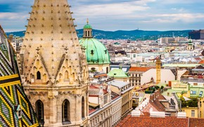 Picture home, Austria, roof, panorama, Vienna