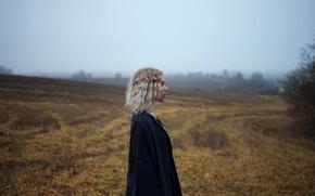 Picture field, girl, profile, Aleks Five