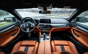 Picture interior, BMW, sedan, salon, Biturbo, BMW M5, Manhart, M5, V8, F90, 2019, 4.4 L., MH5 …