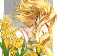 Picture guy, blonde, Boku no Hero Academy, My hero Academy, Almighty