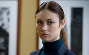 Picture look, pose, model, portrait, makeup, actress, brunette, hairstyle, Olga Kurylenko, Olga Kurylenko, hair