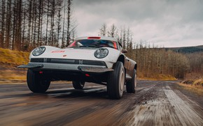 Picture road, forest, 911, Porsche, dirt, Singer, acs, 2021, SCRS, All-terrain Competition Study