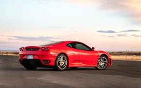 Picture road, red, supercar, Ferrari F430, sports car