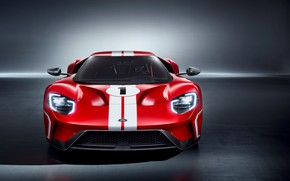 Picture supercar, Ford GT, front view, 2018, 67 Heritage Edition