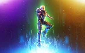 Picture background, color, warrior, helmet, Halo, armor
