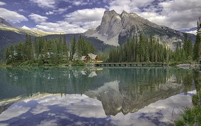 Picture the sky, landscape, nature, lake, mountain