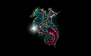 Picture Color, Minimalism, Armor, Style, Background, Art, Art, Style, Knight, Background, Minimalism, Spear, Seahorse, Hastaning Bagus …