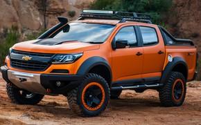Picture sand, Chevrolet, tires, pickup, 4x4, Colorado, Z71, 2016, Xtreme Concept