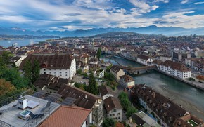 Picture mountains, home, Switzerland, Alps, Lucerne