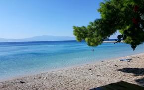 Picture summer, beach, sea, croatia, zaostrog, adriatic sea
