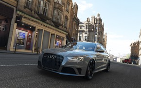 Picture Audi, Street, Grey, England, Road, RS4, Audi RS4