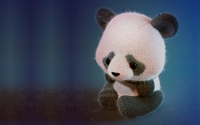 Picture toy, art, Panda, children's, 3d-, Panda knitted toy, Simon Telezhkin