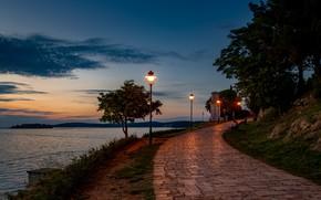 Picture light, sea, evening