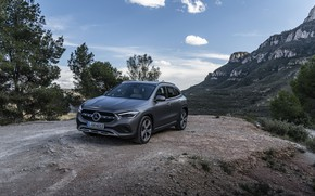 Picture mountains, grey, rocks, Mercedes-Benz, GLA, 4MATIC, 2020, Worldwide, Progressive Line, 220 d