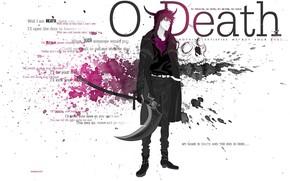 Picture weapons, the demon, horns, Death, braid, Bleach, Ichigo Kurosaki