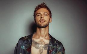 Picture look, tattoo, male, singer, Max Barskih