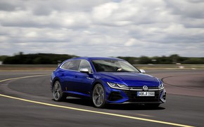 Picture blue, turn, Volkswagen, universal, Shooting Brake, 2020, Arteon, Shooting Brake R, Arteon R