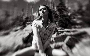 Picture look, girl, pose, legs, zoom, EIKONAS