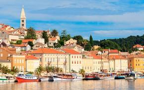 Picture sea, the city, Croatia, Mali Losinj, the island of Losinj, Losinj island, город Мали Лошинь