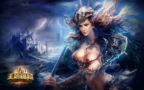 Picture girl, the game, warrior, character, Perfect World