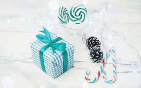 Picture holiday, gift, candy, New year, light bulb, decor