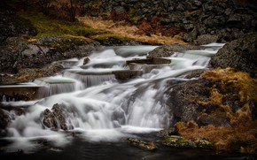 Picture river, waterfall, stream, cascade