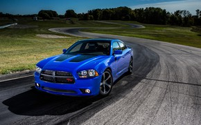 Picture Blue, Dodge Charger, Vehicle