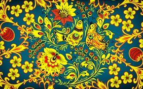 Picture Flowers, Birds, Style, Background, Painting, Art, Khokhloma, Khokhloma painting, madeinkipish, Ivan Ivanovich, Russian painting