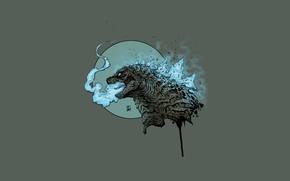 Picture Figure, Monster, Background, Godzilla, Art, Art, Godzilla, Gull, Creatures, By Leonardo Gonzalez, Leonardo Gonzalez, Kaiju …