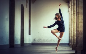 Picture girl, pose, photo, dance, legs, beautiful, Pointe shoes, Dimitry Roulland, Marie Lys