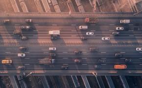 Picture cars, railroad, cars, overpass, Сергей Полетаев, Sergei Poletaev