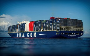 Picture Sea, The ship, A container ship, CMA CGM, Feed, Vessel, A cargo ship, Container Ship, ...