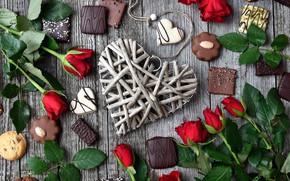Picture love, romance, heart, chocolate, Valentine's day, decor