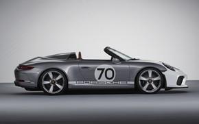 Picture Porsche, profile, 2018, gray-silver, 911 Speedster Concept