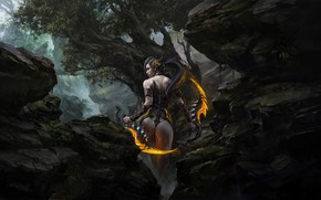 Picture Girl, Fantasy, Art, Concept Art, Forest, Russell Dongjun Lu, by Russell Dongjun Lu