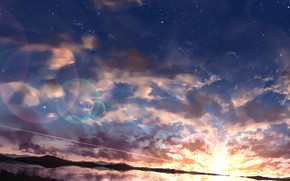Picture the sky, sunset, nature, VOD