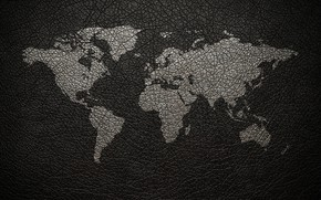 Picture earth, leather, world map, the continent