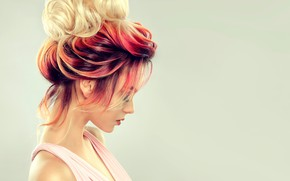 Picture girl, hair, hairstyle, profile, Sofia Zhuravets'