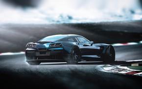 Picture Auto, Corvette, Chevrolet, Machine, Chevrolet Corvette, Rendering, Concept Art, Chevrolet Corvette C7, Transport & Vehicles, …