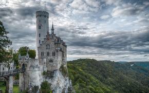Picture Germany, Baden, Castle Lichtenstein, Wuerttemberg, Swabian Alb