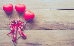 Picture love, holiday, hearts, bow, Valentine's day
