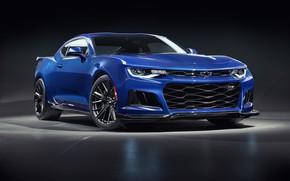 Picture Chevrolet, Blue, Camaro, ZL1