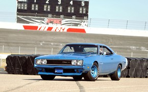 Picture Race, Blue, Coupe, Muscle car, Vehicle, Dodge Charger 500