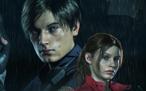 Wallpaper Resident Evil, Capcom, Leon, Claire, Resident Evil 2, Resident Evil 2 (2019)