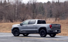 Picture road, movement, pickup, 2018, GMC, Sierra, Crew Cab, 2019, Elevation